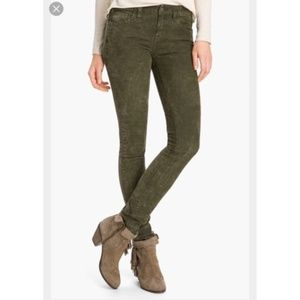 Free People | Olive Marbled Skinny Jeans